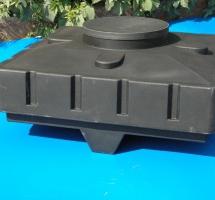 Душевой бак 240 л (900х400х900, Черный)