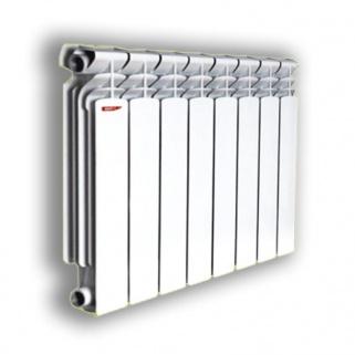 ASB-104D Алюминиевый радиатор отопления (стандарт) 96*80*500-2 (4, Серый)