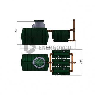 Биофильтр Rostok с загрузкой (1,1м3)