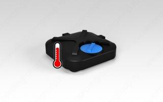 Бак для душа ЭкоПром 200л с подогревом воды (Черный)