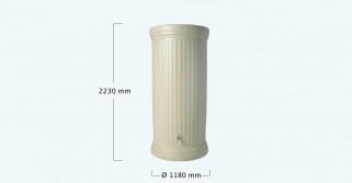 Декоративная емкость Graf колонна круглая (Серый)