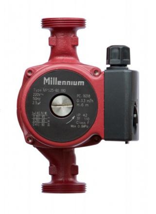 Циркуляционный насос Millennium MPS с соединительными гайками (25-40, Красный)